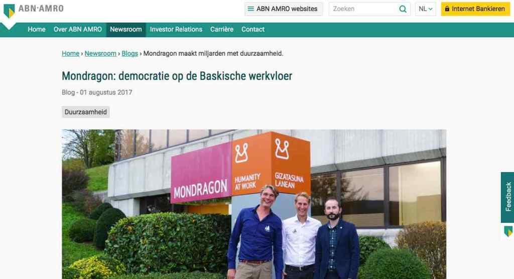 Blog 14 NL Sailors for Sustainability at ABN AMRO Mondragon