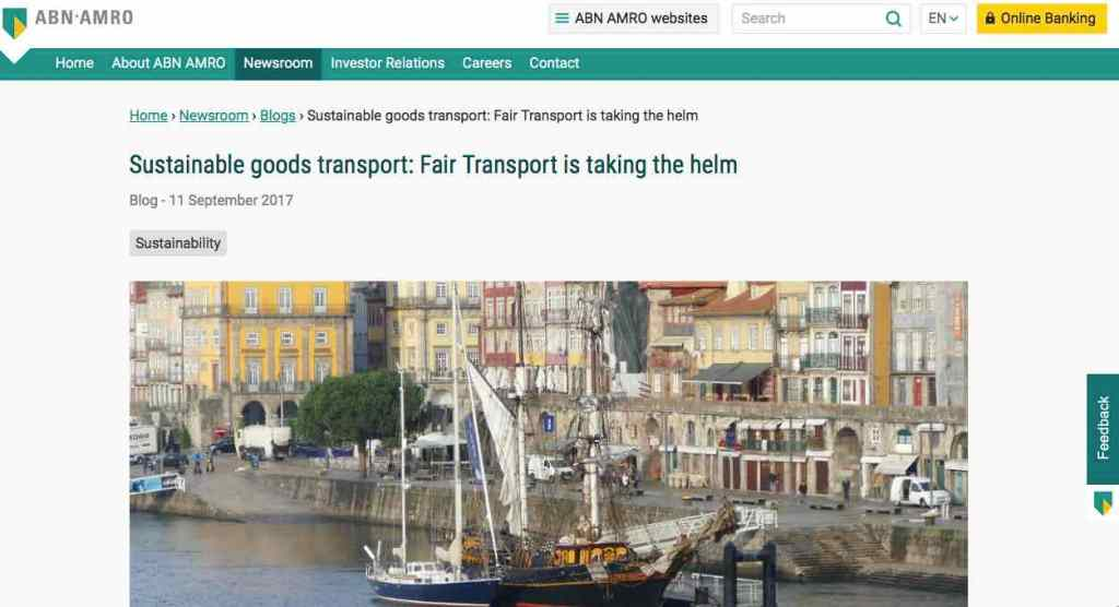 Blog 15 Eng Sailors for Sustainability at ABN AMRO Fair Transport