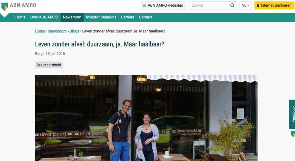 Blog 2 NL Sailors for Sustainability at ABN AMRO Zero Waste
