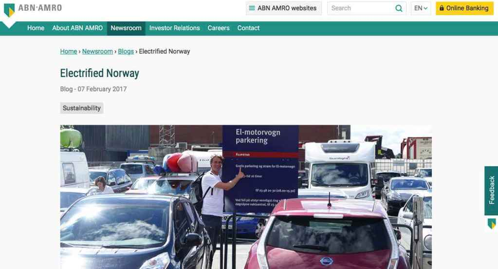 Blog 9 Eng Sailors for Sustainability at ABN AMRO Electrified Norway