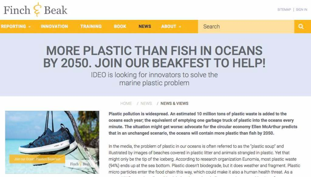 Newsletter 4 Sailors for Sustainability at Finch and Beak about Plastic