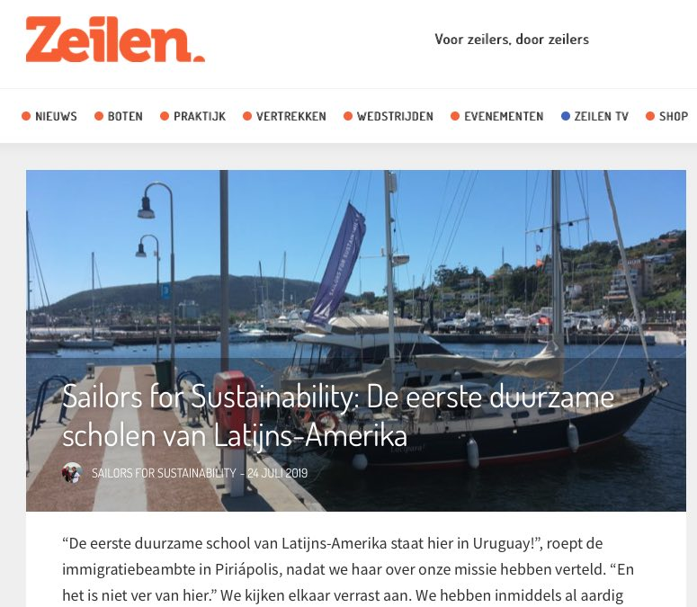 Sailors for Sustainability at Zeilen about sustainable schools