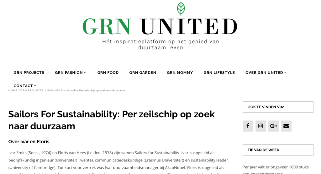 Sailors for Sustainability at GRN United 201704