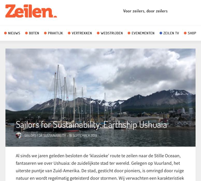 36 Sailors for Sustainability at Zeilen about Earthship Ushuaia 20190918