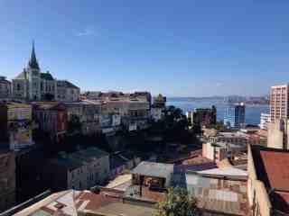 Coastal Valparaiso is built on many hills