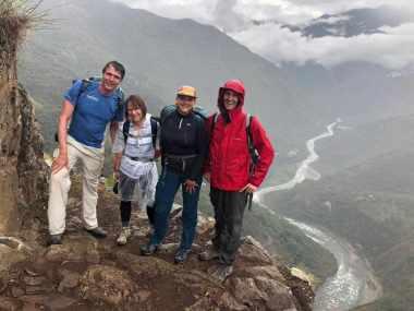 Hiking the Inca trail with Saskia and Nele