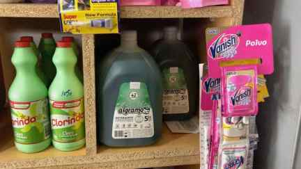 Algramo detergent in the neighbourhood store shelf