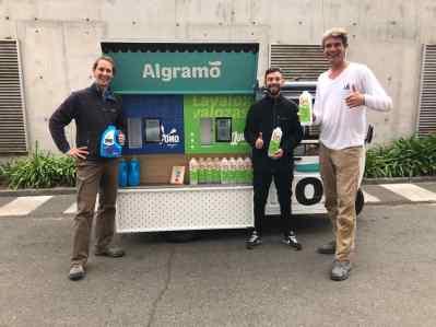 Algramo's mobile detergent refilling station