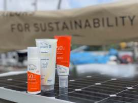 Eco premium suncare and showergel products from our new partner Laboratoires de Biarritz