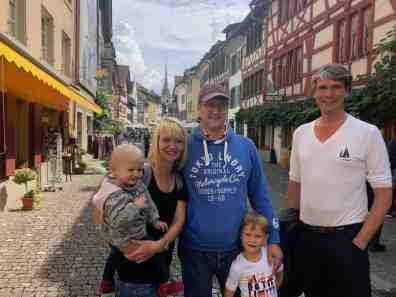 In Switzerland with Floris' brother and family