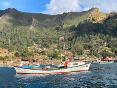 Fishing boat at Robinson Crusoe Island