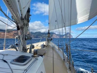 After three days we reach Isla Robinson Crusoe