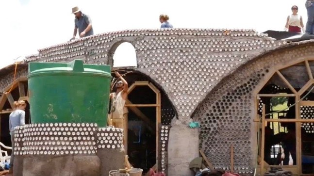 Toki is an Earthship which is made from recycled and natural materials
