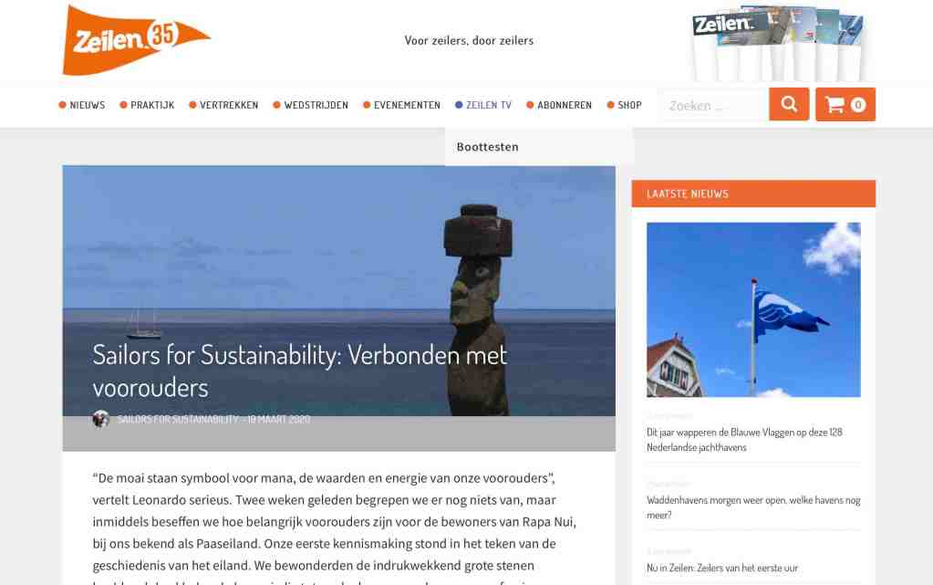 Sailors for Sustainability at Zeilen about Ancestral Values 20200319