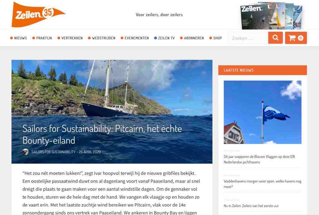 Sailors for Sustainability at Zeilen about Pitcairn 20200426
