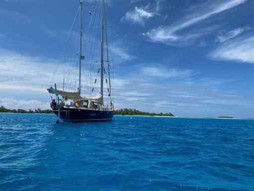 Anchored near the island of Puaumu