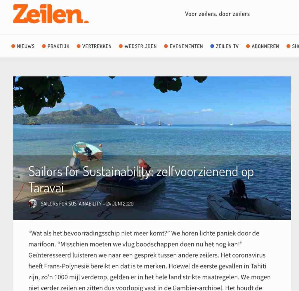 Sailors for Sustainability in Zeilen about Self-Sufficiency