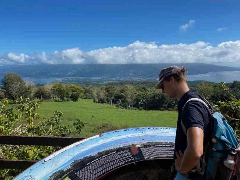 The view towards Tahiti Nui