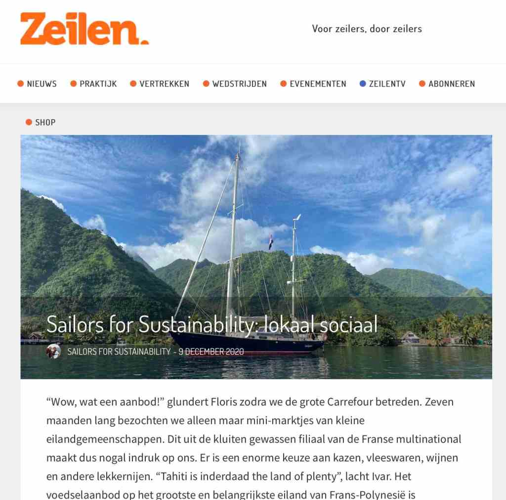 Sailors for Sustainability in Zeilen about Local Social