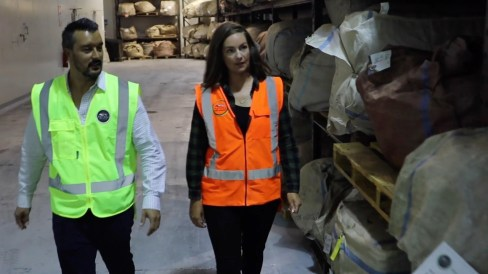 Tane and Clare in the warehouse - Picture AgriSea