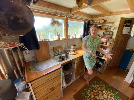 Eva explains all about her tiny house