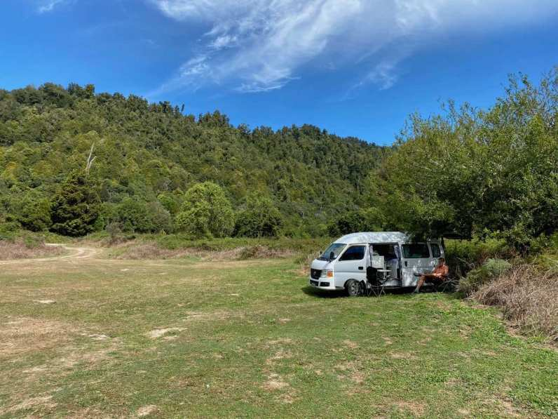 Alone at the nature camping in Te Urewera