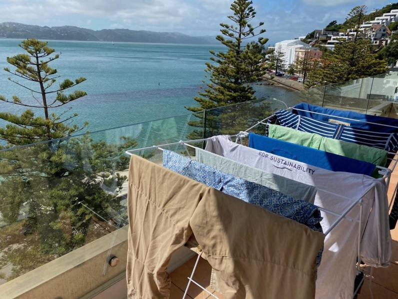 Laundry time in Wellington