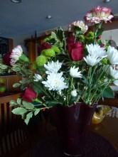 One of larger arrangements, to set on credenza