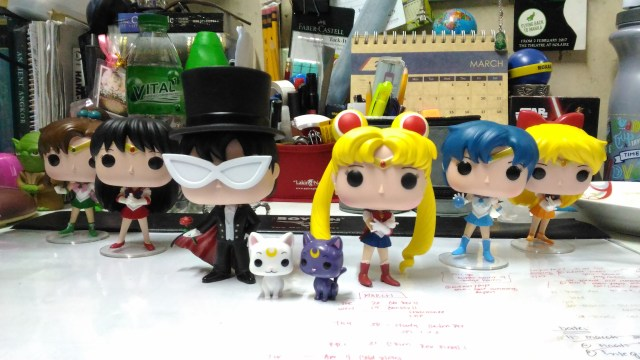 Inner Squad! Entire Funko Pop version of Sailor Moon line!