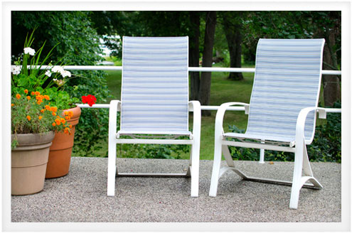 sling back patio chairs ergonomic chair insert do it yourself advice blog director s and are a popular