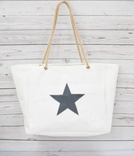 Grey Star Beach Bag