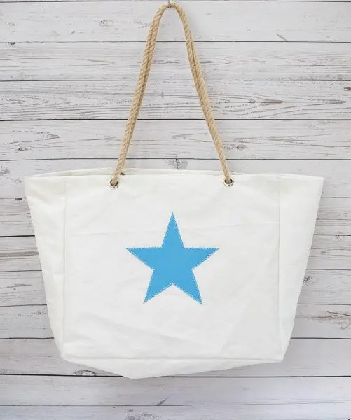 Baby Blue Star Beach Bag