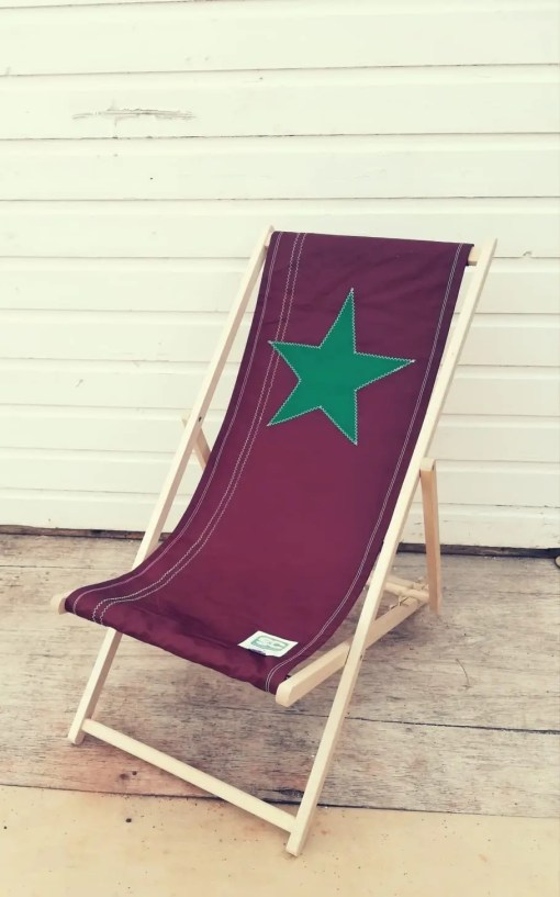 Tan Star Deckchair with green star