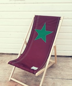 Tan Star Deckchair with green star