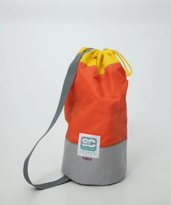 limited-edition-duffle bag-orange-grey-yellow-combination