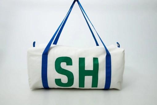 personalised sailcloth kit bag