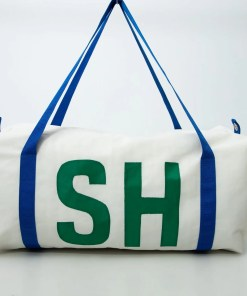 personalised sailcloth kit bag
