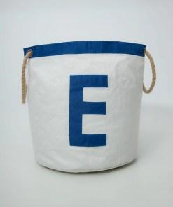 personalised-storage-bucket-E-royal blue