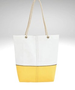 Yellow marine canvas & recycled sailcloth shopper