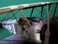 Caccia inglese Sopwith Camel 1917, dettaglio della prora - British fighter Sopwith Camel 1917, detail of the front