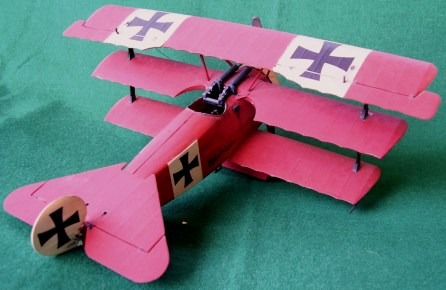 "Caccia tedesco Fokker Dr. I del ""Barone rosso"", 1918 - German fighter Fokker Dr. I of the ""Red baron"", 1918"