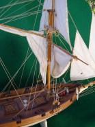 Dettagli delle vele di maestra e della randa - Details of the main sail and the fore sail