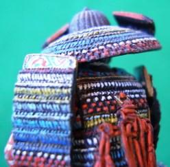 Samurai, dettaglio della corazza posteriore - Samurai, detail of the rear armour