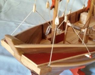 Giunca cinese, dettaglio della prua - Chinese junk, detail of the bow