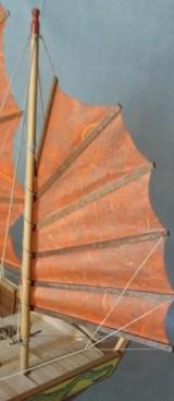 Giunca cinese, vela di mezzana - Chinese junk, mizzen sail