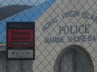 Well protected police station on Tortola