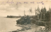Looking south from Alchorn Point to Blockhouse Light. Rapael Tuck Postcard ca. 1908