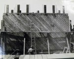 There would have been significant pressure on the walls of the caissons at a depth of 90 feet.