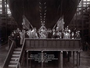 Launch party. Launch was by wife of George Perley Acting Canadian High Commissioner. Photo: Tyne & Wear Archives & Museums #467283