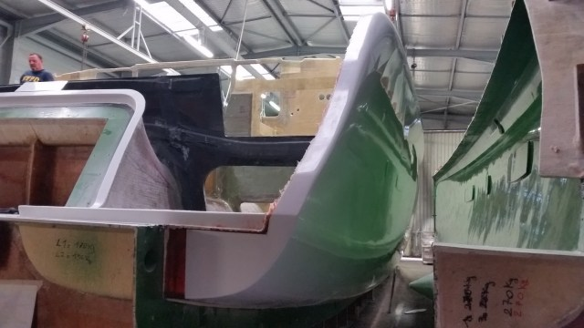 Starboard hull with mold section removed